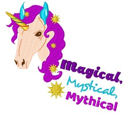 Unicorn Magical Mystical Mythical embroidery design