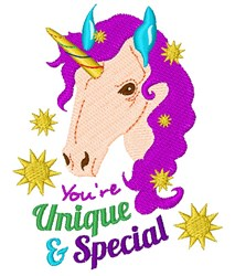 Unicorn You re Unique And Special embroidery design
