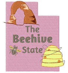 Utah The Beehive State embroidery design