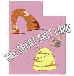 Utah The Great Salt Lake embroidery design