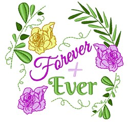 Wedding Florals Forever + Ever embroidery design