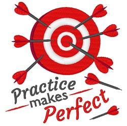 Bullseye Practice Makes Perfect embroidery design