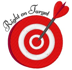 Bullseye Right On Target embroidery design
