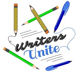 Writing Writers Unite embroidery design