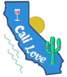 Cali Love embroidery design