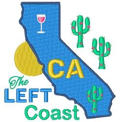 California The Left Coast embroidery design