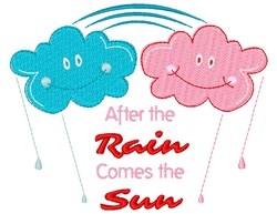 After The Rain Comes The Sun embroidery design