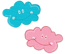 Clouds embroidery design