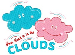 Your Head Is In The Clouds embroidery design