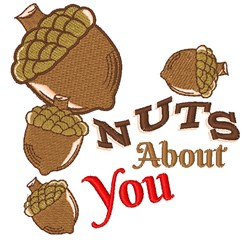 Acorn Nuts About You embroidery design