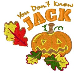 Fall Pumpkin You Don t Know Jack embroidery design