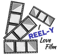 I Reel y Love Film embroidery design