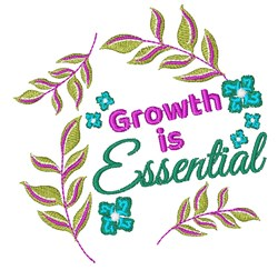 Florals Growth Is Essential embroidery design
