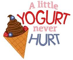 A Little Yogurt Never Hurt embroidery design