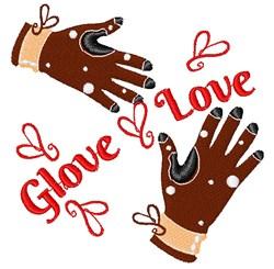 Glove Love embroidery design