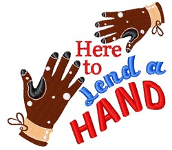 Glove Here To Lend A Hand embroidery design