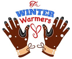 Glove The Winter Warmers embroidery design