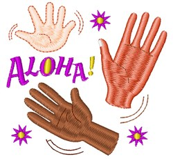 Good Bye Aloha embroidery design