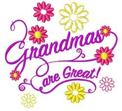 Grandmas Are Great embroidery design