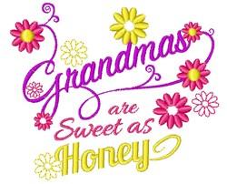 Grandmas Are Sweet As Sugar embroidery design