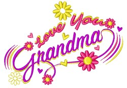 Love You Grandma embroidery design