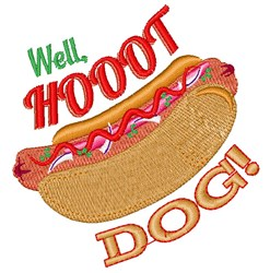 Well Hot Dog embroidery design