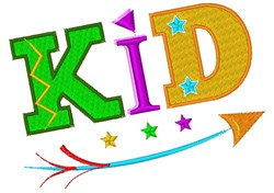 Kid embroidery design