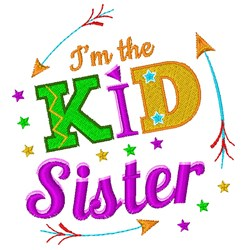 I m The Kid Sister embroidery design