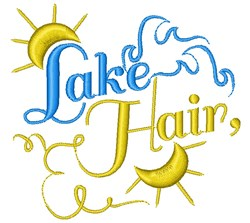 Lake Hair embroidery design