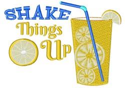 Lemonade Shake Things Up embroidery design