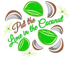 Put The Lime In The Coconut embroidery design