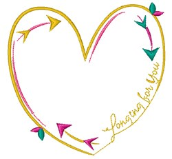 Longing For You embroidery design