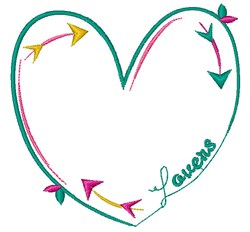 Lovers embroidery design