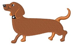 Long Dog embroidery design