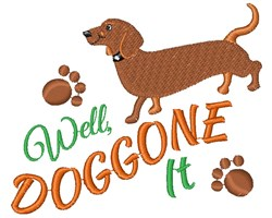 Well Doggone It embroidery design