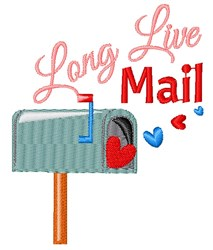 Long Live Mail embroidery design
