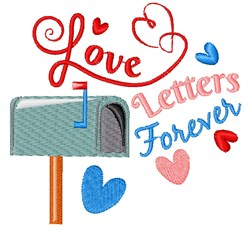 Love Letters Forever embroidery design