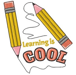 Pencil Learning Is Cool embroidery design