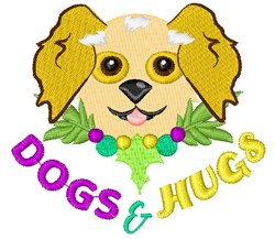 Dogs & Hugs embroidery design