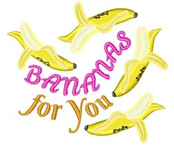 Bananas For You embroidery design
