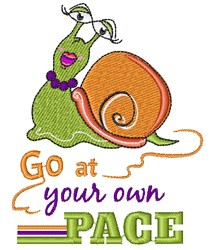 Snail Go At Your Own Pace embroidery design
