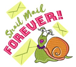 Snail Mail Forever embroidery design