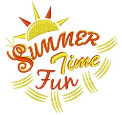 Summer Time Fun embroidery design