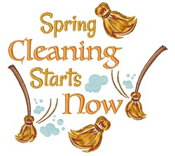 Spring Cleaning Starts Now embroidery design