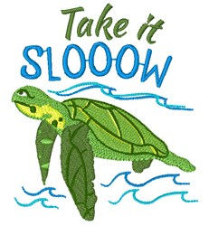 Turtle Take It Slow embroidery design