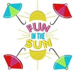 Umbrellas Fun In The Sun embroidery design