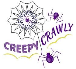 Web Creepy Crawly embroidery design