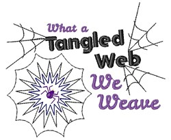 What A Tangled Web We Weave embroidery design
