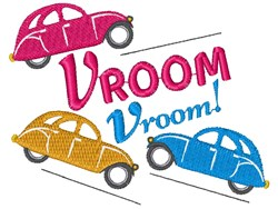 Cars Vroom Vroom embroidery design