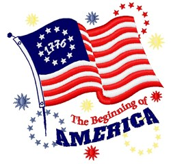 The Beginning Of America embroidery design